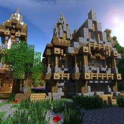 Minbury Island - Medieval Village Minecraft Map & Project