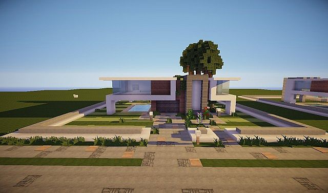 sway a medium sized modern house minecraft project