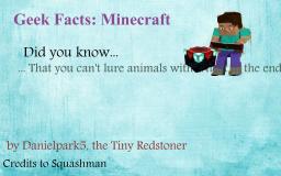 20 Geek Facts : Minecraft Minecraft