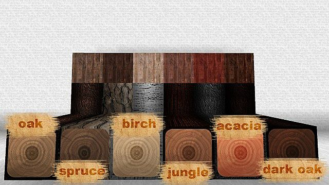 these are the 6 different types of wood