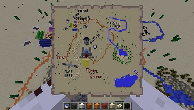 The map to the Temple of Notchs Doom