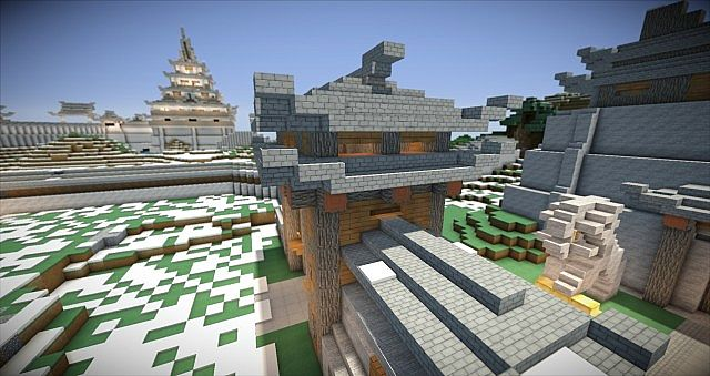 Chinese gate minecraft project - Minecraft japanese gate ...