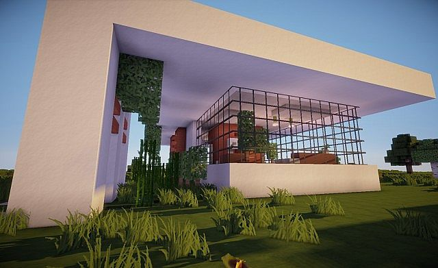 Minimalistic modern house series glass old minecraft project - Glass house show ...