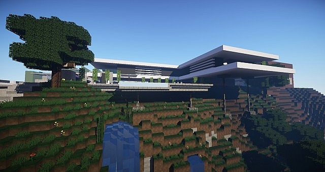 Modern mountain house showcased by keralis minecraft for Mountain house media