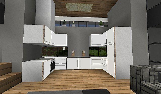 Modern Kitchen Using Item Frames Minecraft Map