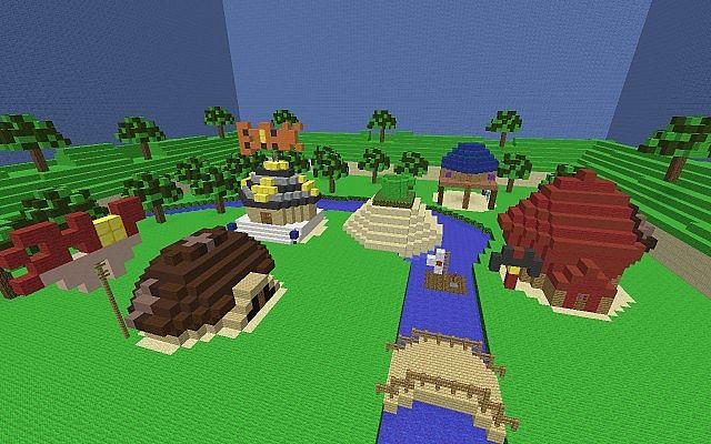 Mario Party 1 Mushroom Village Map Minecraft Project