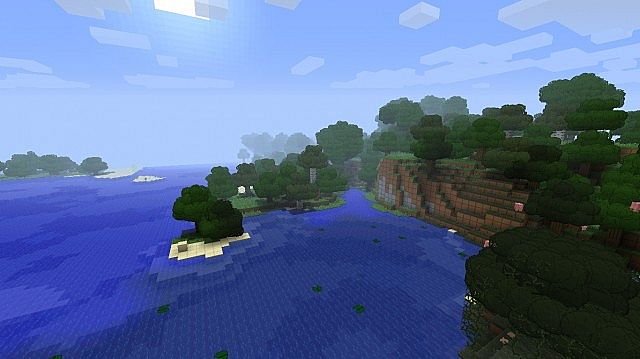 SimpleCraft with Better Grass Leaves Mod