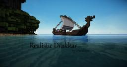 Realistic Drakkar (Viking Ship) and his camp. Minecraft Project