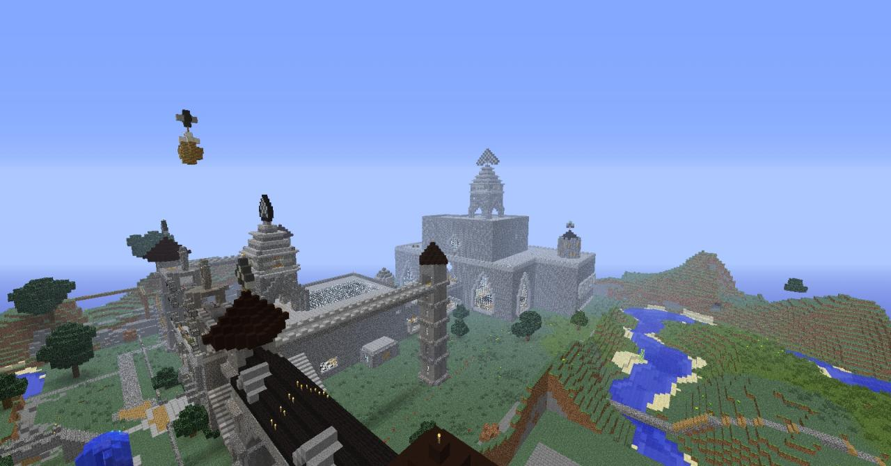 how to make a huge castle in minecraft