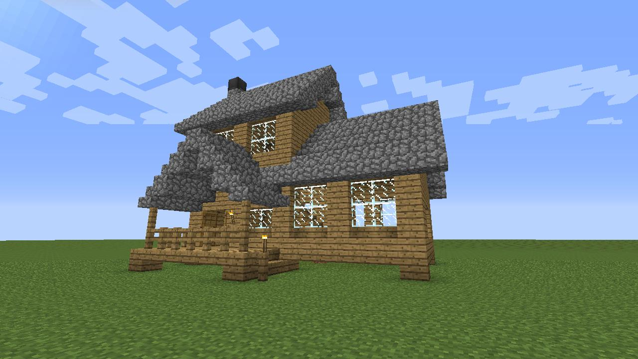 Medium Sized Wooden House Minecraft Project