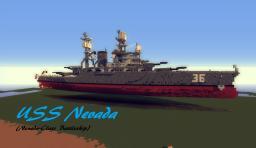Nevada-Class Battleship (USS Nevada) (Exerior Complete) Minecraft