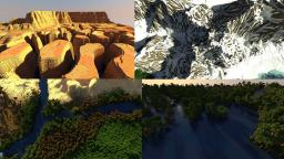 50 sub special!! crazy mountains, beautiful forests and much, much more!! Minecraft Map & Project