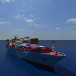 Clara Maersk 1:1 Scale Replica! Minecraft Map & Project