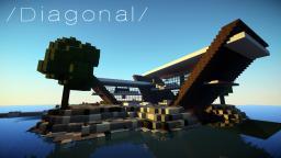 Diagonal, Ultra Minimal Island Home Minecraft Map & Project