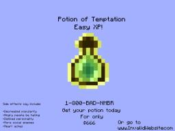 Potion of Temptation - Will you risk everything for nothing? Minecraft Blog Post