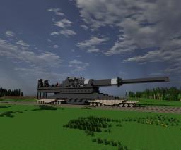Schwerer Gustav -Enormous Railgun- Minecraft Map & Project
