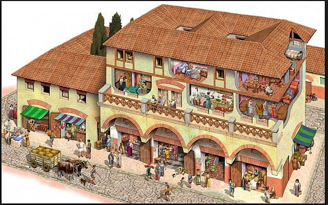 Insulae - Roman apartments   shops as inspiration