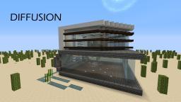 Diffusion | minimalist modern house Minecraft Map & Project