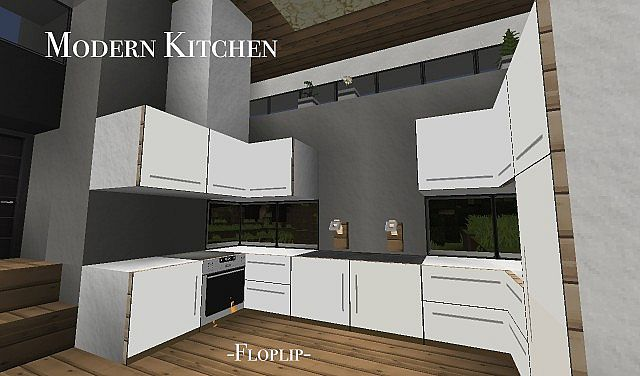 modern kitchen (using item frames!) minecraft project