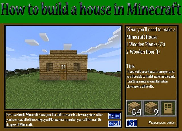 How to build a minecraft house program minecraft blog for Build your house program