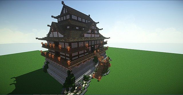 Aoe2 japanese castle minecraft project - Minecraft japanese gate ...