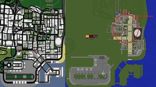 real minecraft map San Andreas Los Santos Map