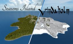 [Realistic landscape] Two Seasons Island - Vindaholm Minecraft Project