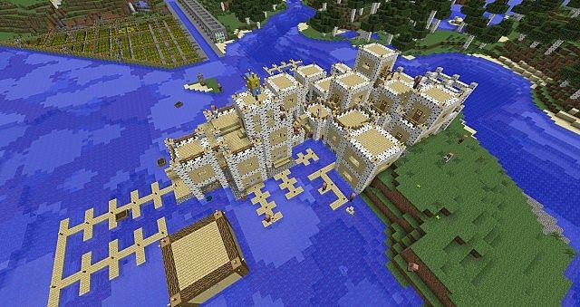 [Map] Большой город с небоскрёбами для Minecraft » Скачать ...
