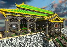Ba Sing Se monorail station from Avatar Minecraft Map & Project