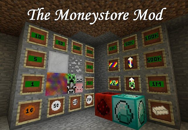 The Moneystore Mod 20 Earn Money To Buy Prizes Updated To 162