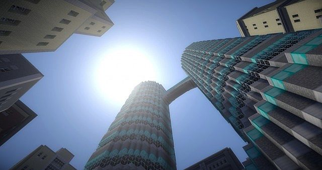 Picture taken from below the diamond towers.