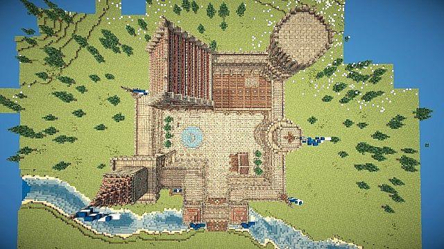 майнкрафт карта большого рыцаря и замком #1