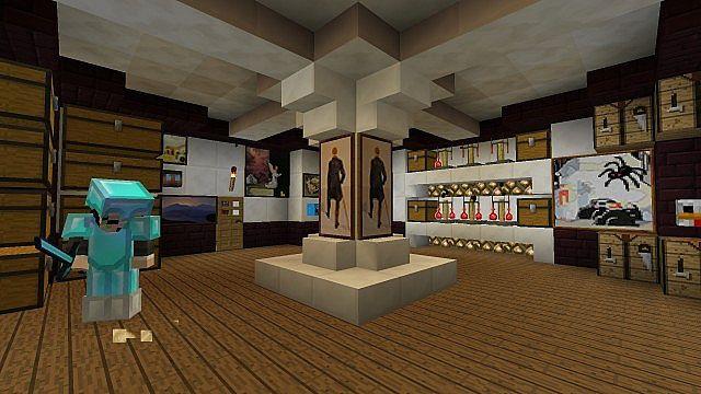 Small Luxurious Underground Base Minecraft Map