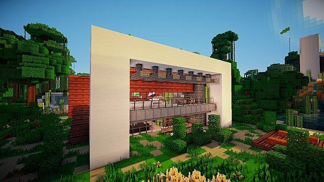 Nature Modern House In The Jungle WoK Minecraft Project - Modern house jungle