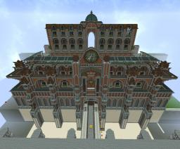 Symmetry based Steampunk Mechanic Palace Building Minecraft Project