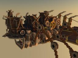 Steampunk Moving city Minecraft Map & Project