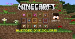 You can BLEND dye colors together?! A discovery by The Flaming Ice Minecraft Blog Post