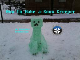 Build Your Own Snow-Creeper | Pop Reel | Minecraft Blog Post