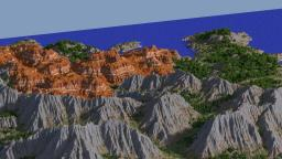 Mountain/Canyon Island - Custom Terrain[fixed download] Minecraft