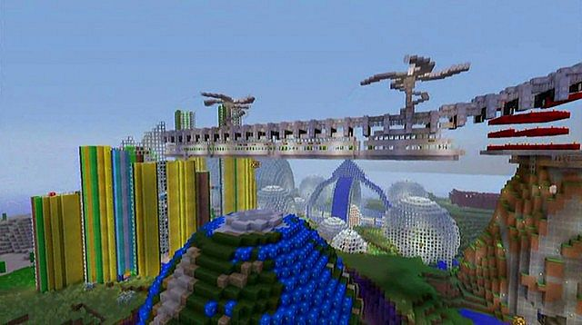 How Do Maglev Trains Work >> Millipede Maglev Futuristic Train Minecraft Project