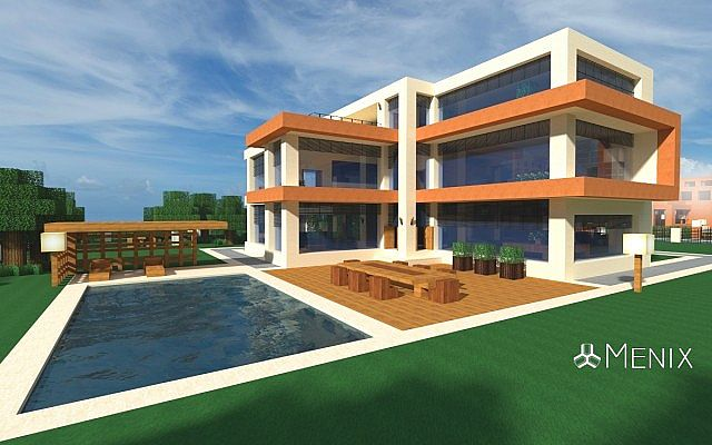 Modern House 3 Menix House Series Minecraft Project