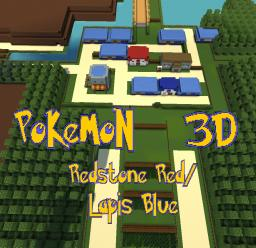 (ADV/1.7.2+)  POKEMON 3D: REDSTONE RED/LAPIS BLUE Minecraft Project