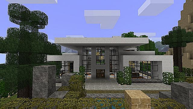 Minecraft best modern house minecraft project - Modern house minecraft ...