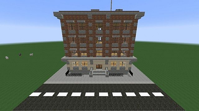 Immeuble new yorkais tuto minecraft project - Immeuble moderne minecraft ...
