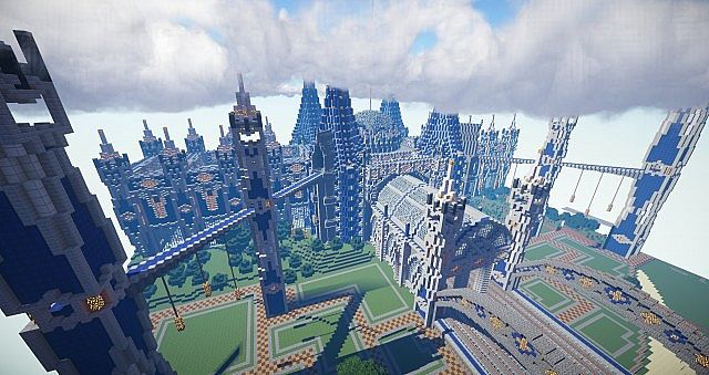 Big Spawn Building With Portal Room Minecraft Project