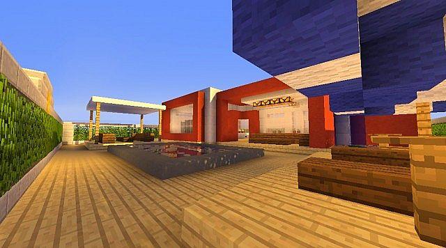 Minecraft casa moderna modern house minecraft project for Casa moderna minecraft design