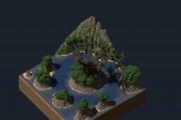 Fantasy tree with terrain Minecraft