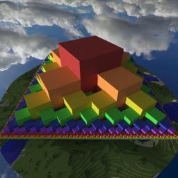 Fibonacci Cube Spiral Pyramid Minecraft