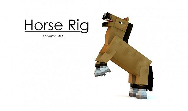 FREE - Minecraft Horse Rig Minecraft Project