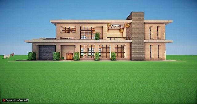Minecraft realistic modern home minecraft project for Modern house minecraft pe 0 12 1